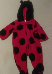 Carter's Just for you hooded Ladybug footie